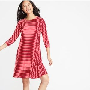 Brand New Old Navy Red and White Swing Dress
